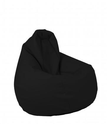 Fotoliu beanbag pentru Copii (4-14 ani) Nirvana Light - Teteron Black (pretabil si la exterior) umplut cu perle polistiren