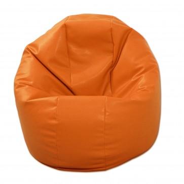 Fotoliu Beanbag Relaxo - Orange (piele eco) umplut cu perle polistiren