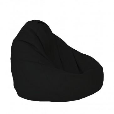 Fotoliu Puf tip Sac Nirvana Grande - Panama Black (pretabil si la exterior) umplut cu perle polistiren