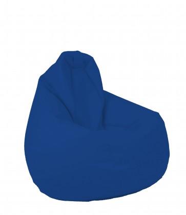 Fotoliu beanbag pentru Copii (4-14 ani) Nirvana Light - Electric Blue (pretabil si la exterior) umplut cu perle polistiren