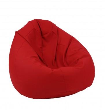 Fotoliu Pufrelax tip Sac Nirvana Gigant - Teteron Red (pretabil si la exterior) umplut cu perle polistiren