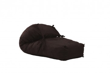 Fotoliu Pufrelax Yoga L - Dark Chocolate (Gama Premium Textil) umplut cu fulgi de burete memory mix®