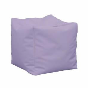 Fotoliu Taburet Cub XL - Violet (piele eco) umplut cu perle polistiren
