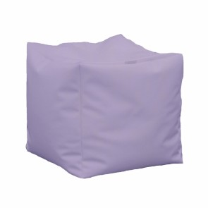 Fotoliu Taburet Cub XL - Violet (piele eco) umplut cu perle polistiren (beanbag marca Pufrelax) Fabricat in Romania
