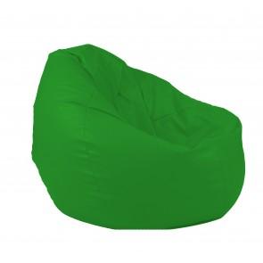 Fotoliu Pufrelax tip Sac Nirvana Gigant - Verde (piele eco) umplut cu perle polistiren