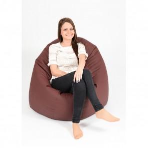 Fotoliu Beanbag Relaxo XL - Burgundy (piele eco) umplut cu perle polistiren