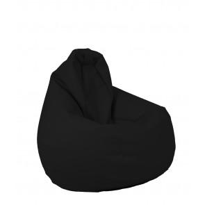 Fotoliu Puf tip Sac Nirvana Hobbit - Teteron Black (pretabil si la exterior) umplut cu perle polistiren