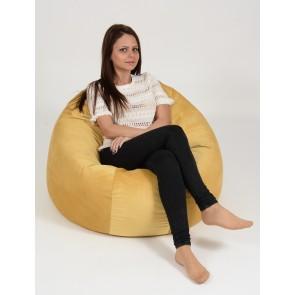 Fotoliu Beanbag Relaxo XL - Lemon (Gama Diamond) umplut cu perle polistiren