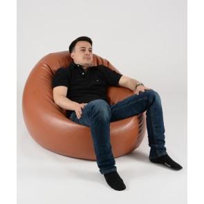 Fotoliu Beanbag Relaxo XL - Brown (piele eco) umplut cu perle polistiren