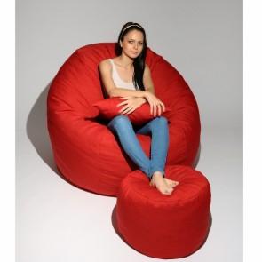 Set Fotoliu Puf King Size + Otoman + Perna decorativa - Montana Red (Gama Diamond) umplut cu fulgi de burete memory mix®