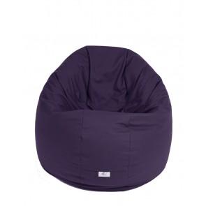 Fotoliu Puf pentru Copii (2-14 ani) Relaxo - Purple (Gama Premium PU) umplut cu perle polistiren