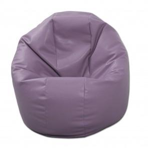 Fotoliu Beanbag Relaxo XL - Violet (piele eco) umplut cu perle polistiren