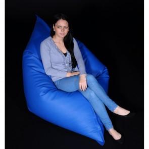 Fotoliu tip Perna Magic Pillow - Blue (piele eco) umplut cu perle polistiren