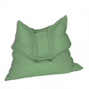 Fotoliu tip Perna Magic Pillow - Verde (piele eco) umplut cu perle polistiren