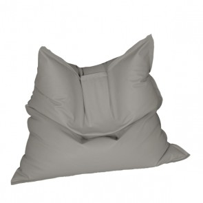 Fotoliu tip Perna Magic Pillow - Gri (piele eco) umplut cu perle polistiren