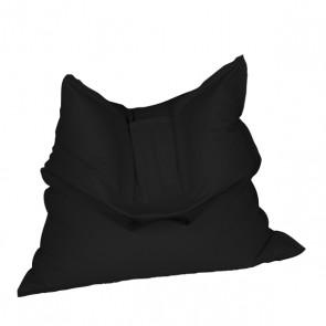 Fotoliu tip Perna Magic Pillow - Negru (piele eco) umplut cu perle polistiren
