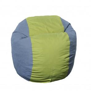 Fotoliu Puf pentru copii (5-16 ani) Matusalem - Green Patch (Gama Premium) umplut cu fulgi de burete memory mix®