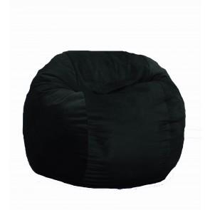 Fotoliu Puf pentru copii (5-16 ani) Matusalem - Black Velvet (Gama Diamond) umplut cu fulgi de burete memory mix®