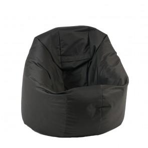 Fotoliu Beanbag Relaxo - Teteron Black (pretabil si la exterior) umplut cu perle polistiren