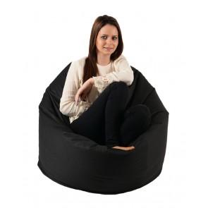 Fotoliu Beanbag Relaxo XL - Panama Black (pretabil si la exterior) umplut cu perle polistiren