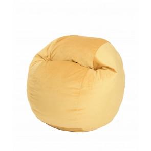 Fotoliu Puf pentru copii (5-16 ani) Matusalem - Lemon (Gama Diamond) umplut cu fulgi de burete memory mix®