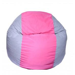 Fotoliu Puf pentru copii (5-16 ani) Matusalem - Pink Stripe (Gama Premium) umplut cu fulgi de burete memory mix®