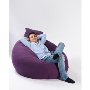 Fotoliu Pufrelax King Size + Perna decorativa - Mulberry (Gama Premium Textil) umplut cu fulgi de burete memory mix®