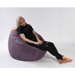 Fotoliu Pufrelax Relaxo XL - Magnetic Ink (Gama Premium Textil) cu husa detasabila textila, umplut cu perle polistiren