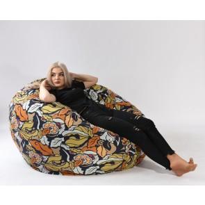 Fotoliu PufRelax King Size - Fantasy (Gama Premium Textil) umplut cu fulgi de burete memory mix®
