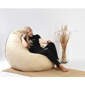 Fotoliu PufRelax Nirvana Gigant - Marble (Gama Premium Textil) cu husa detasabila textila, umplut cu perle polistiren