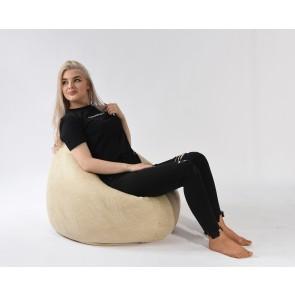 Fotoliu Pufrelax Relaxo - Marble (Gama Premium Textil) cu husa detasabila textila, umplut cu perle polistiren