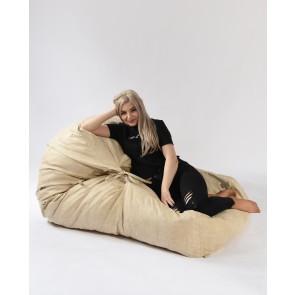 Fotoliu Pufrelax Yoga XL - Marble (Gama Premium Textil) umplut cu fulgi de burete memory mix