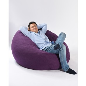 Fotoliu PufRelax King Size - Mulberry (Gama Premium Textil) umplut cu fulgi de burete memory mix®