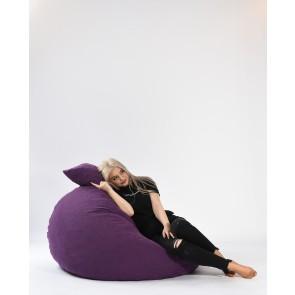 Set Fotoliu Puf Matusalem + Perna decorativa - Mulberry (Gama Premium Textil) umplut cu fulgi de burete memory mix®
