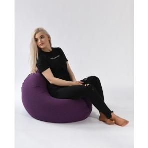 Fotoliu Pufrelax Relaxo - Mulberry (Gama Premium Textil) cu husa detasabila textila, umplut cu perle polistiren