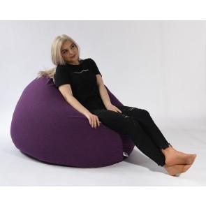 Fotoliu Pufrelax Relaxo XL - Mulberry (Gama Premium Textil) cu husa detasabila textila, umplut cu perle polistiren