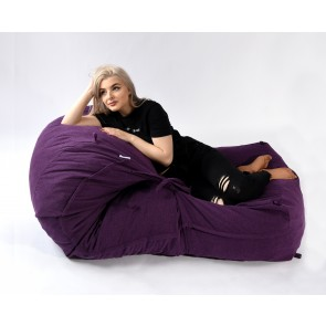 Fotoliu Pufrelax Yoga XL - Mulberry (Gama Premium Textil) umplut cu fulgi de burete memory mix