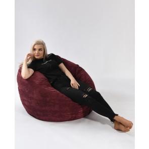 Fotoliu PufRelax Matusalem - Velvet Marsala (Gama Premium Textil) umplut cu fulgi de burete memory mix®