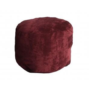 Accesoriu fotoliu puf Otoman - Velvet Marsala (Gama Premium Textil) umplut cu fulgi de burete memory mix®