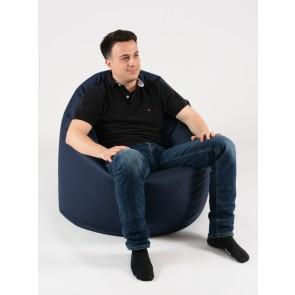 Fotoliu Beanbag Relaxo XL - Bleumarin (pretabil si la exterior) umplut cu perle polistiren