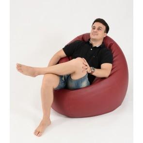 Fotoliu Beanbag Relaxo XL - Bordo (piele eco) umplut cu perle polistiren