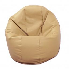 Fotoliu Puf pentru Copii (2-14 ani) Relaxo - Nude (GAMA PREMIUM PU) umplut cu perle polistiren