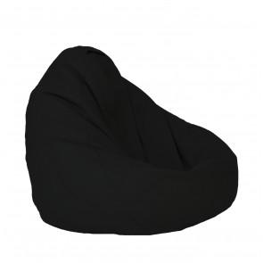 Fotoliu Puf tip Sac Nirvana Grande - Teteron Black (pretabil si la exterior) umplut cu perle polistiren