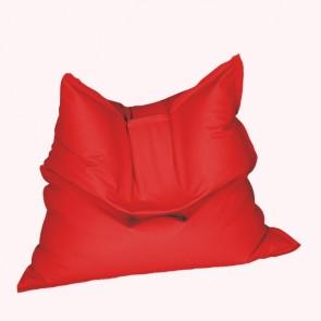 Fotoliu tip Perna Magic Pillow - Bloody Red (piele eco) umplut cu perle polistiren