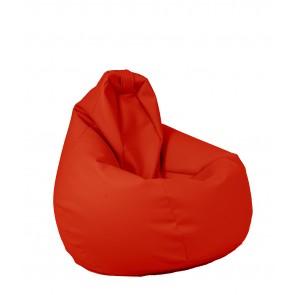 Fotoliu beanbag pentru Copii (4-14 ani) Nirvana Hobbit - Bloody Red (piele eco) umplut cu perle polistiren
