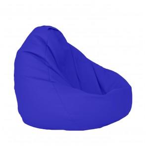 Fotoliu Puf tip Sac Nirvana Grande - Blue (piele eco) umplut cu perle polistiren