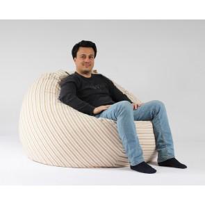 Fotoliu PufRelax King Size, Boho Spirit (Gama Premium Textil) umplut cu fulgi de burete memory mix