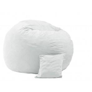 Set Fotoliu Puf King Size XL + Perna decorativa - Angora Grey (Gama Premium)  umplut cu fulgi de burete memory mix®