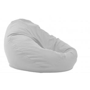 Fotoliu Puf tip Sac Nirvana Gigant - Angora Grey (Gama Premium) cu husa detasabila textila, umplut cu perle polistiren