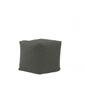 Fotoliu Pufrelax Taburet Cub - Moon Grey (Gama Premium) cu husa detasabila textila, umplut cu perle polistiren